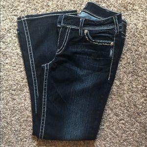 Suki Flap Silver Bootcut Jeans - size W31 / L30
